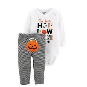 Carter's graphic bodysuit and striped leggings set